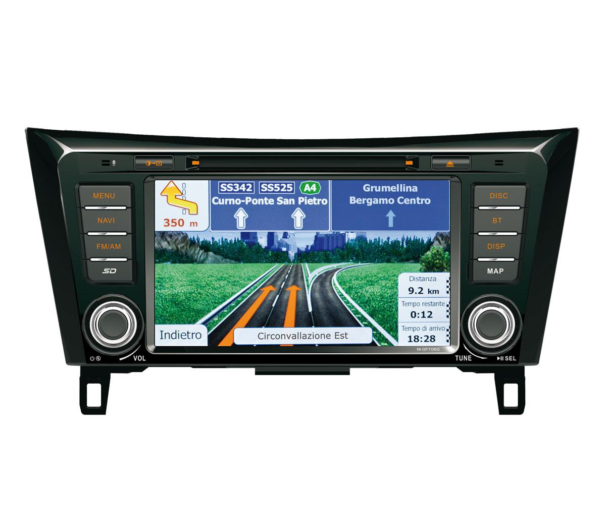 Autor�dio-GPS MACROM  M-OF7060 OEM navig�cia Nissan Qashqai / X-Trail (2014>)