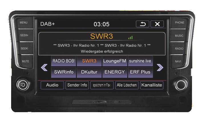 Origin�lna GPS navig�cia ESX-VN810 pre VW Golf VII (11/2012->)