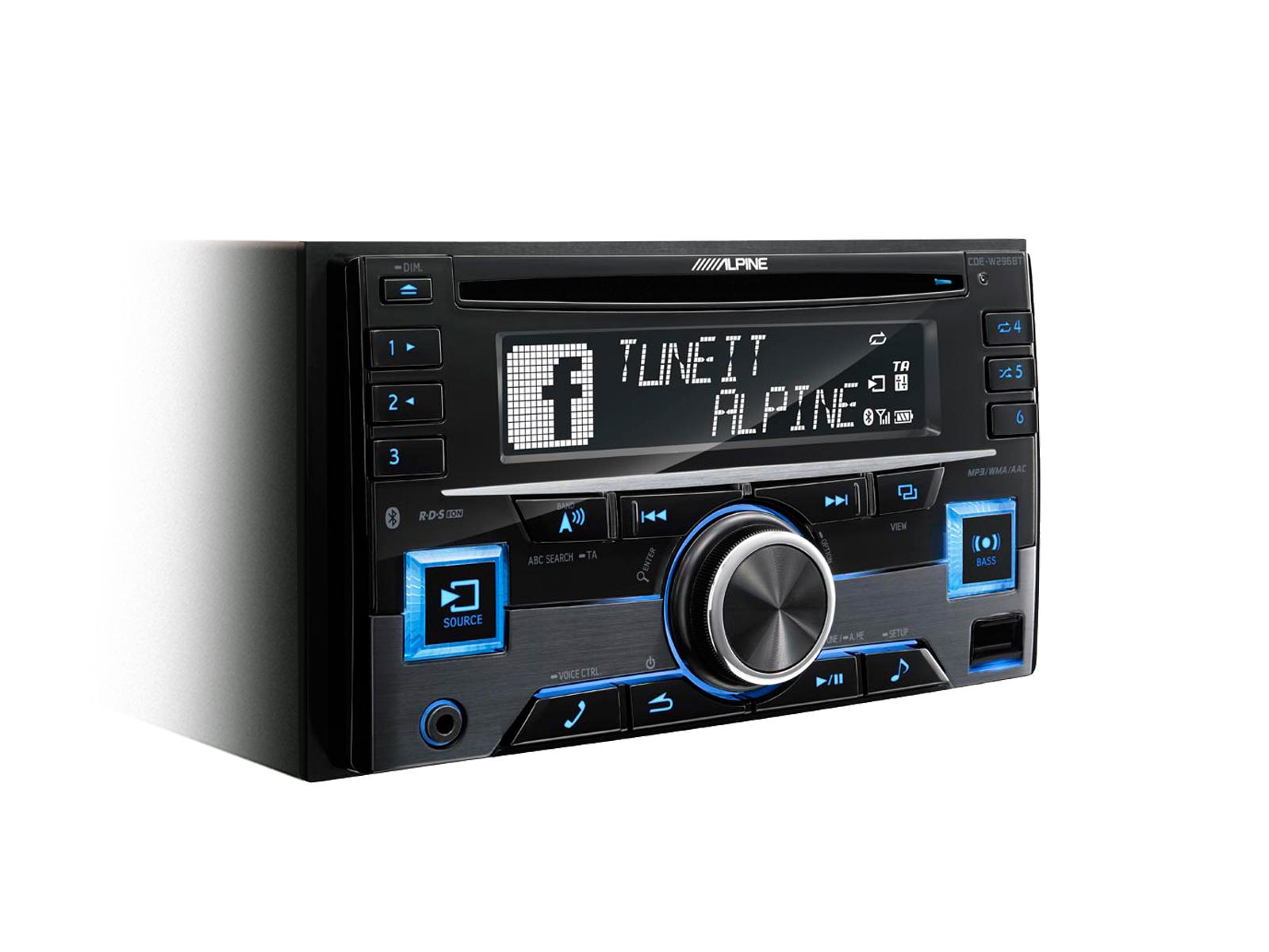 ALPINE rádio CDE-W296BT - 2DIN
