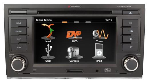 GPS autor�dio Zenec pre Audi A4 , SEAT Exeo - ZE-NC3141D E>GO